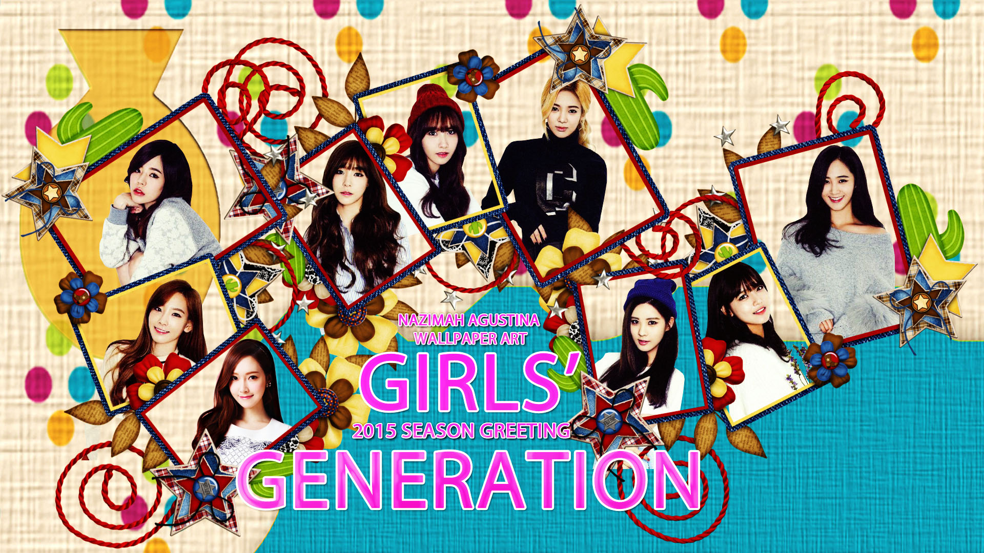 Girls Wallpapers 2015: [Edit Stock] Girls' Generation On 2015 Season Greeting