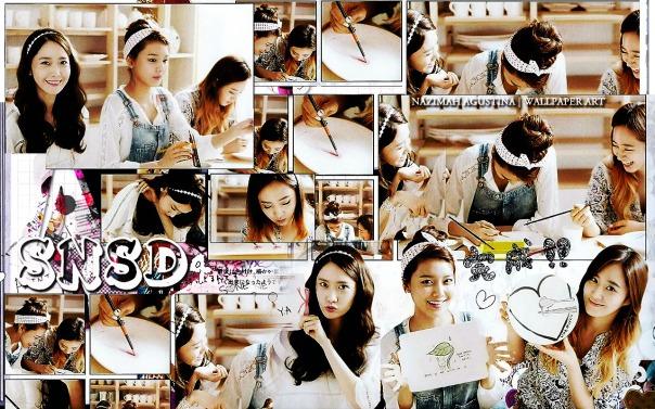 SNSD yoonyulsoo gg sone note yoona yuri sooyoung girls generation scrapbook by nazimah agustina