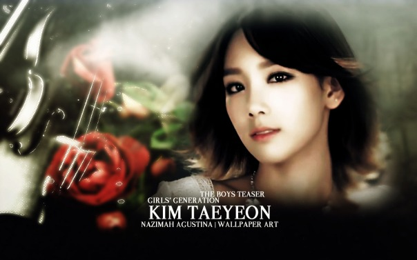 taeyeon the boys snsd retouch smooth soft wallpaper by nazimah agustina