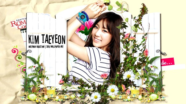 taeyeon window snsd kim girls generation scrapbook cute baby-g by nazimah agustina