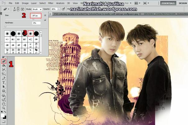 tutorial stock how to make soft vintage wallpaper using adobe photoshop exo hunkai kaihun sekai oh sehun kim kai 2015 2