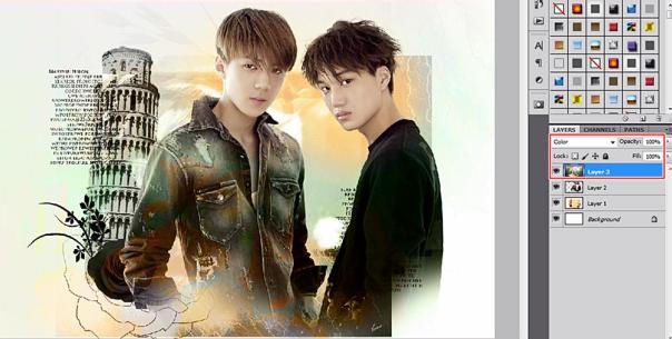 tutorial stock how to make soft vintage wallpaper using adobe photoshop exo hunkai kaihun sekai oh sehun kim kai 2015 3