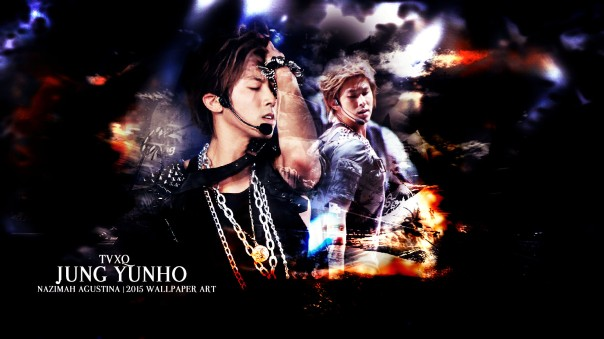 tvxq dbsk u-know yunho jung abstract light wallpaper 2015 by nazimah agustina art design