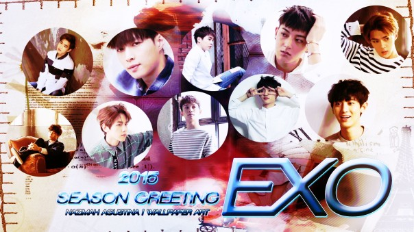 2015 EXO GREETing seasonwallpaper by nazimah agustuna