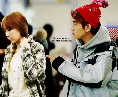 baekyeon bandara edit baekhyun taeyeon snsd exo couple manipulation selca by nazimah agustina 2015