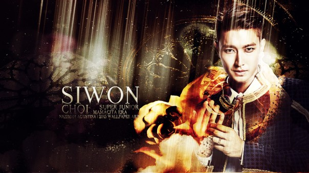 CHOI SIWON super junior elegant mamacita era wallpaper birthday 2015 by nazimah agustina