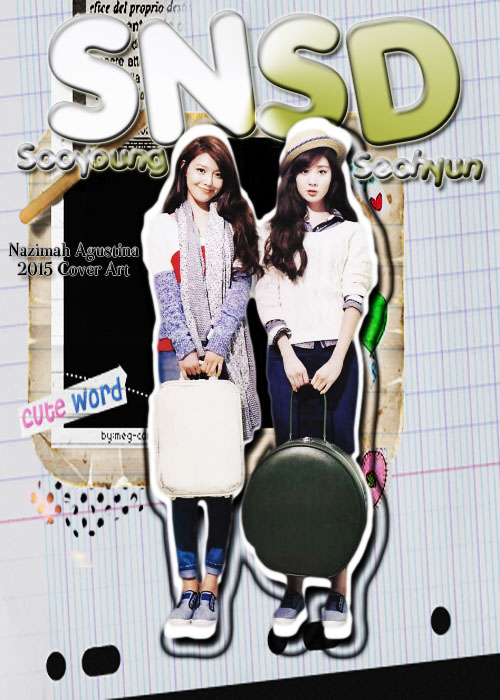 cover seosoo snsd choi sooyoung seo joohyun seohyun cover art 2015 cute fancy by nazimah agustina