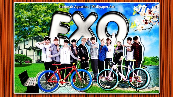 exo bycle cute ot12 nature wallpaper by nazimah agustina 2015