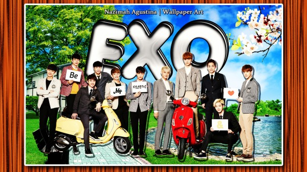 exo-k motor wallpaper nature cute scrapbook by nazimah agustina 2015