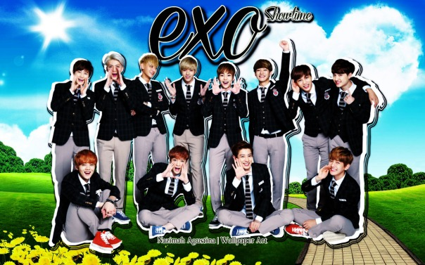 exo showtime nature wallpaper ot12 2014 by nazimah agustina