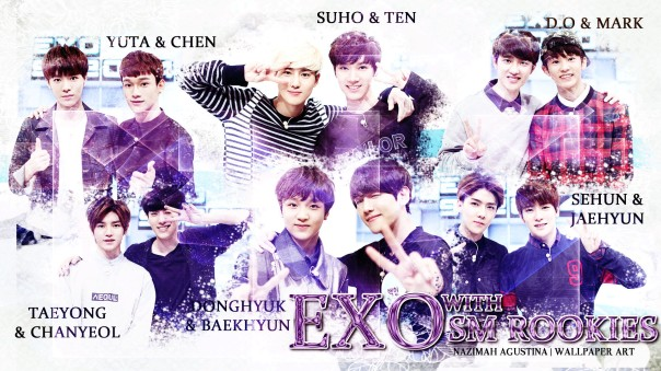 exo with sm rookies with variety show wallpaper by nazimah agustina 2015
