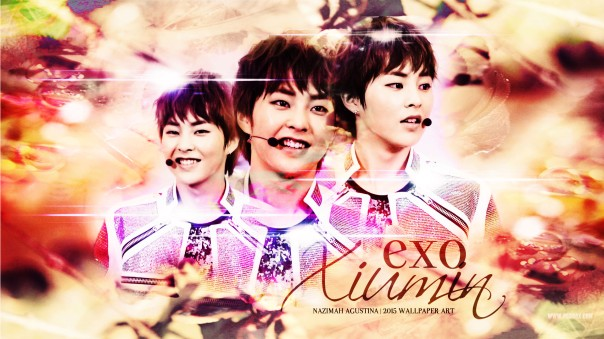 exo xiumin kim minseok wallpaper soft color by nazimah agustina
