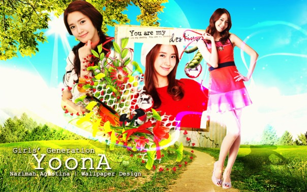 im yoon ah nature wallpaper by nazimah agustina snsd