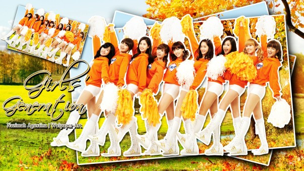 jingga snsd orange girls generation wallpaper 2015 by nazimah agustina