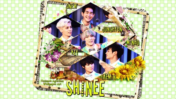 shinee cute ot5 onew jjong key minho taemin wallpaper fresh green by nazimah agustina