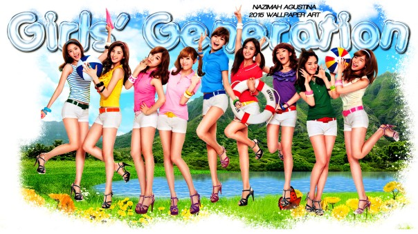 snsd beach girls generation nature park wallpaper by nazimah agustina 2015
