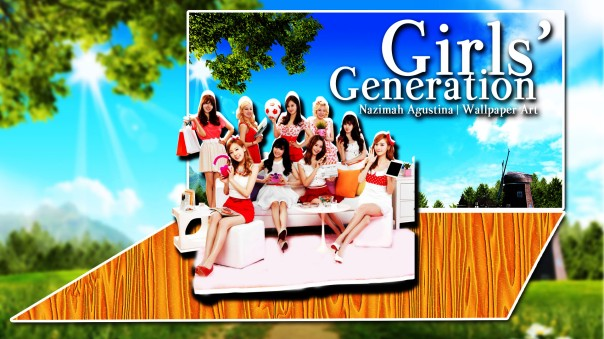 snsd frame cute nature wallpaper new 2015 by nazimah agustina