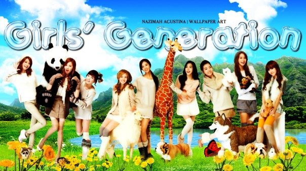 snsd with animal girls' generation wallpaper by nazimah agustina