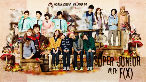 suju f(x) super junior sj wallpaper scrapbook art by nazimah agustina