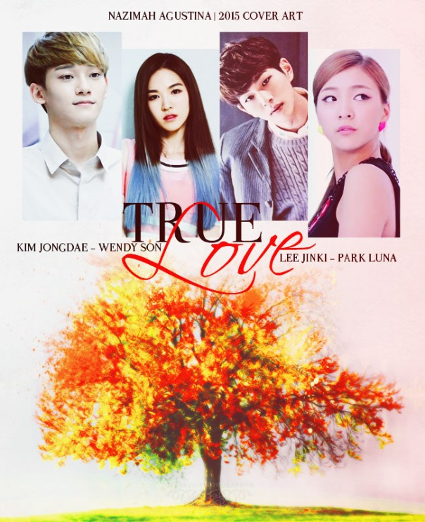 true love for tutorial & Stock How To Make Easy Fanfiction Cover Using Photoshop wendy red velvet chen exo luna f(x) onew shinee by nazimah agustina 2015