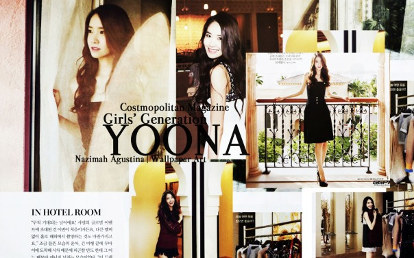 yoona costmopolitan magazine wallpaper snsd arab 2014 by nazimah agustina