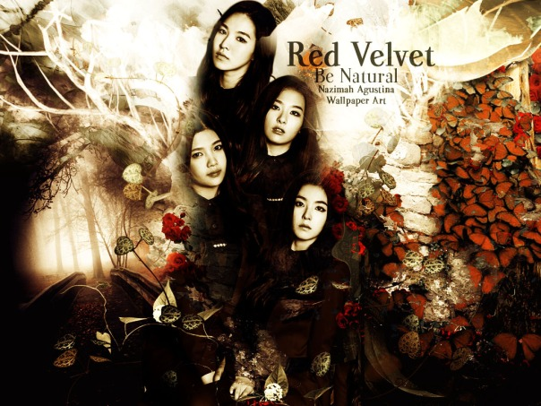 be natural dark brown fantasy red velvet joy seulgi irene wendy by nazimah agustina
