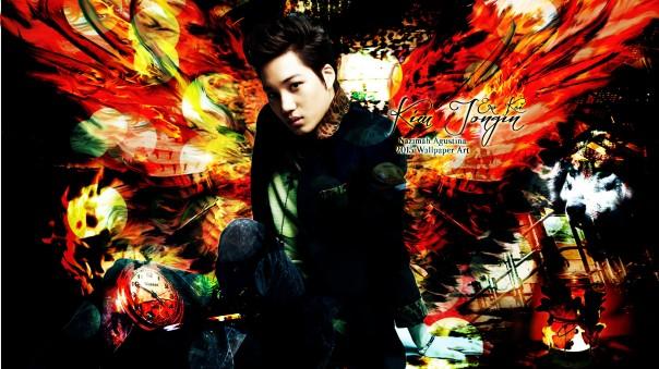 kim jongin kai exo lord of the wings wallpaper 2015 by nazimah agustina fantasy art 2