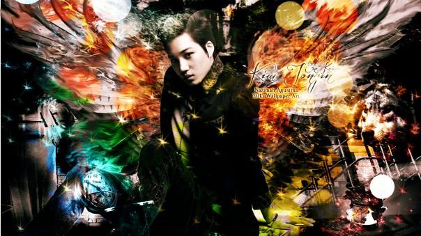 kim jongin kai exo lord of the wings wallpaper 2015 by nazimah agustina fantasy art