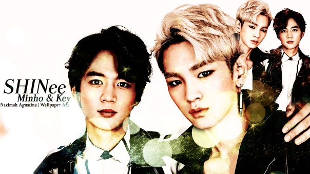 minkey choi minho kim kibum key shinee wallpaper by nazimah agustina