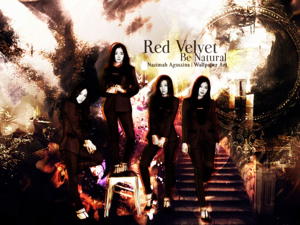 red velvet be natural era 2014 graphic art wallpaper by nazimah agustina