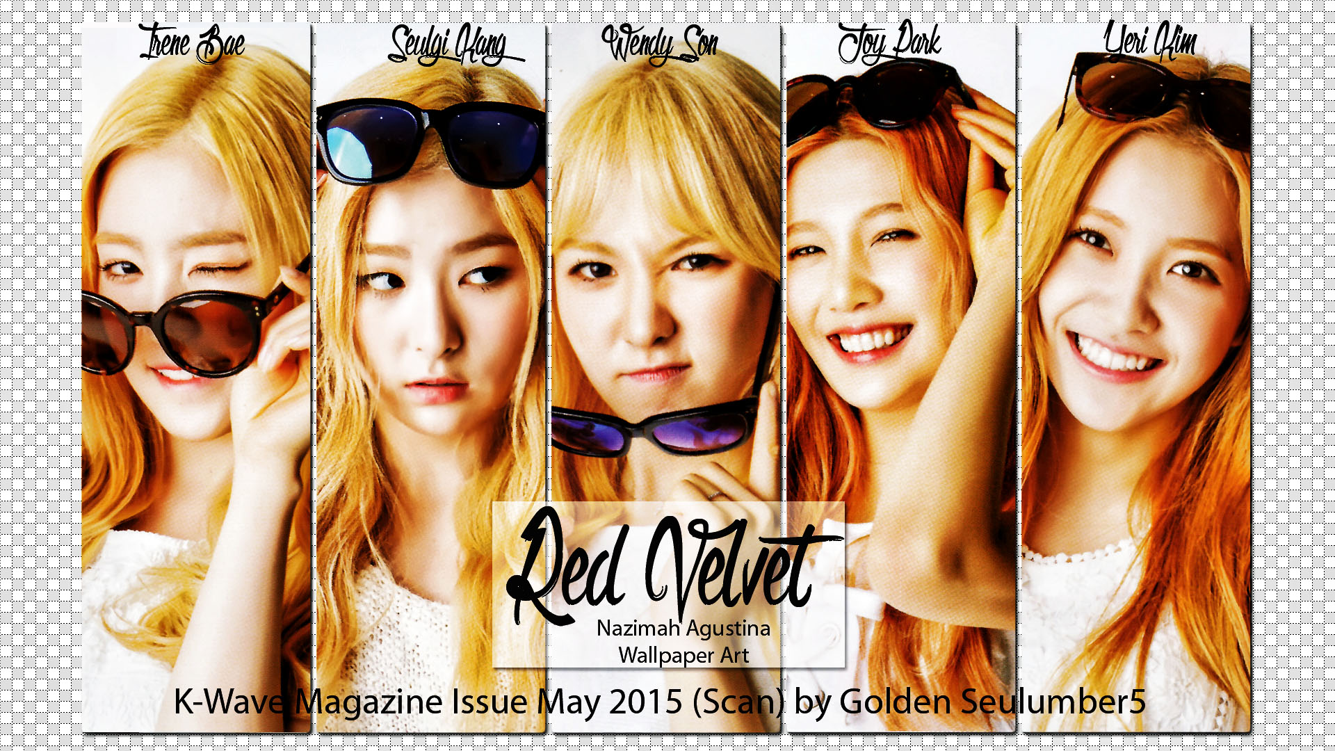 Red Velvet May Kwave Issue Wallpaper By Nazimah Agustina