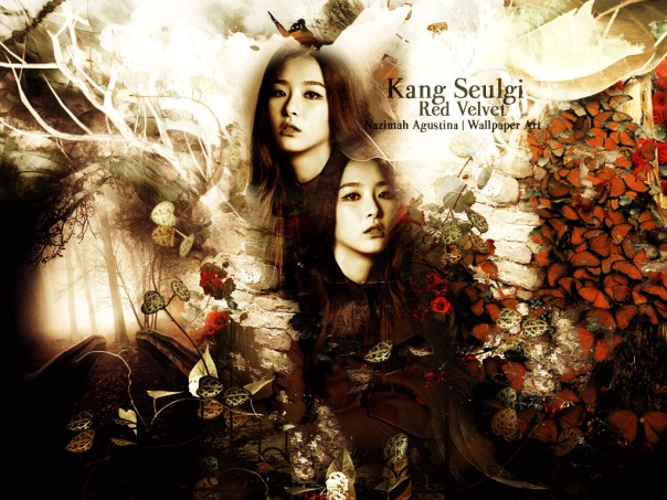 seulgi kang red velvet flower dark graphic by nazimah agustina
