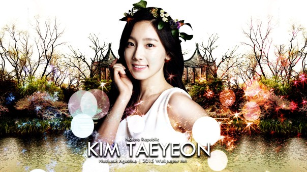 nature repblic fantasy kim taeyeon snsd wallpaper by nazimah agustina 2015