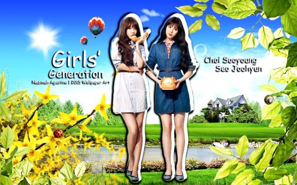 sooyoung soeohyun snsd nature wallpaper by nazimah agustina