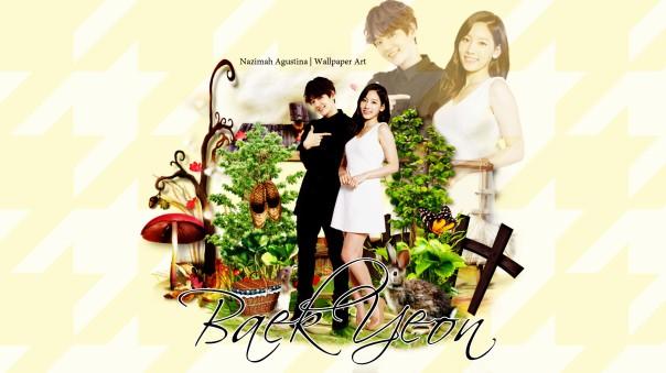 baekyeon cute garden 2015 exo snsd kim taeyeon byun baekhyun manipulation art wallpaper by nazimah agustina