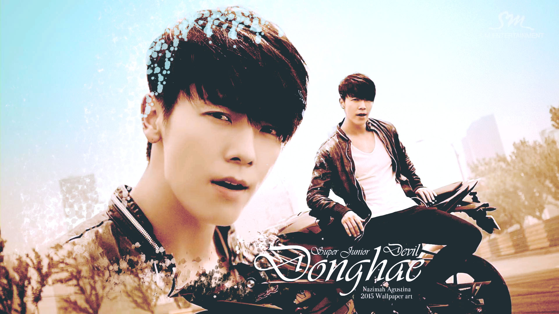 devil donghae mv super junior wallpaper by nazimah agustina art 201