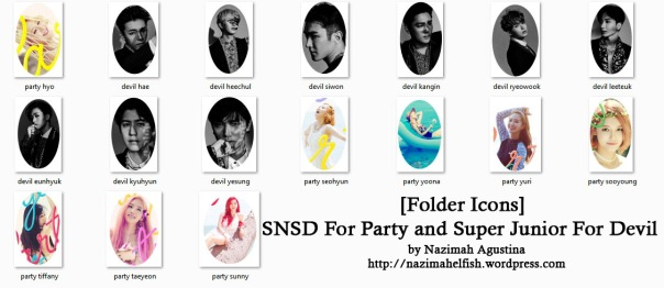 [Folder Icons] SNSD For Party and Super Junior For Devil by nazimah agustina 2015 comebcak