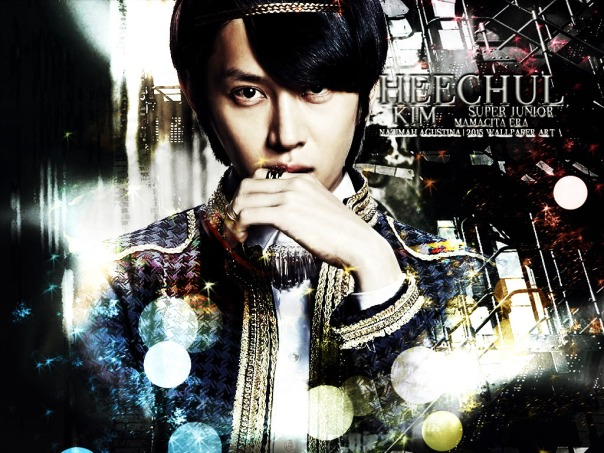 kim heechul graphic blue ver mamacita era super junior happy birhday 2015 wallpaper by nazimah agustina