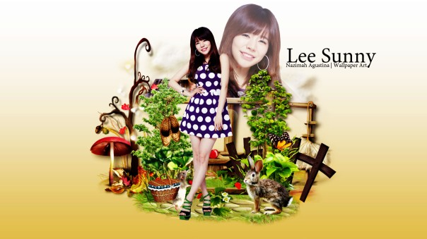 lee sunny cute scrap brown soonkyu snsd wallpaper by nazimah agustina