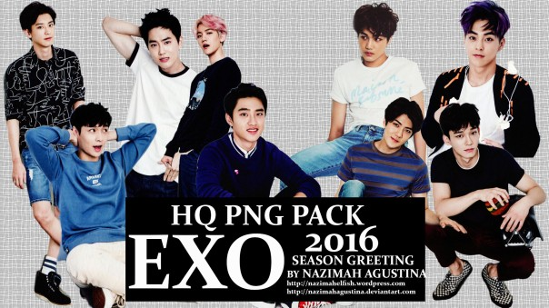 download hq png pack exo 2016 season greeting by nazimah agustina