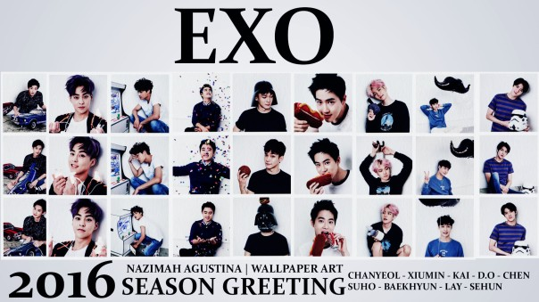 EXO 2016 SEASON GEETING WALLPAPER BY NAZIMAH AGUSTINA