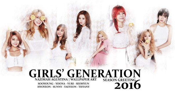 GIRLS' GENERATION 2016 SEASON GREETING WALLPAPER BY NAZIMAH AGUSTINA