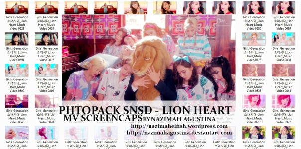 [Photo Pack] snsd girls generation lion heart MV Screencaps by Nazimah Agustina