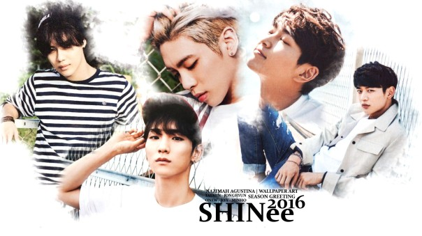 SHINEE 2016 SEASON GREETING WALLPAPER BY NAZIMAH AGUSTINA