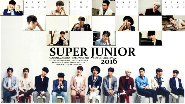 SUPER JUNIOR 2016 SEASON GREETING WALLPAPER BY NAZIMAH AGUSTINA
