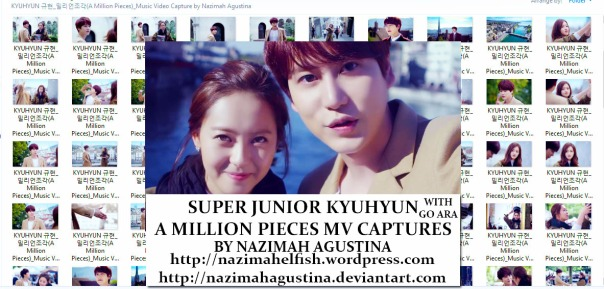 download photo packsuper junior kyuhyun with go ara a million pieces mv capture screencaps preview by nazimah agustina