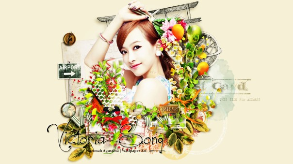 f(x) in the scrapbook flower victoria luna amber krystal sulli meu cute wallpaper by nazimah agustina (5)