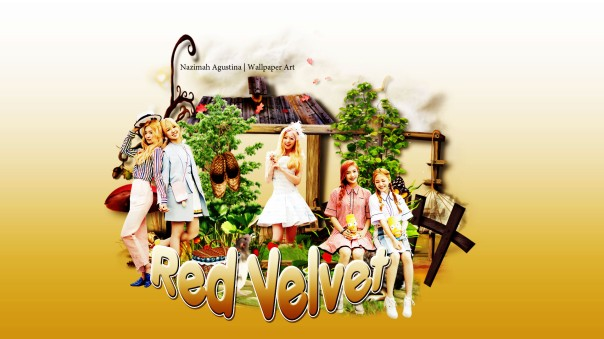 red velvet cute in the garden ot5 new wallpaper by nazimah agustina