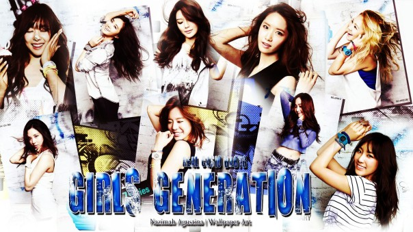 baby-g snsd girls generation cf blue wallpaper by nazimah agustina