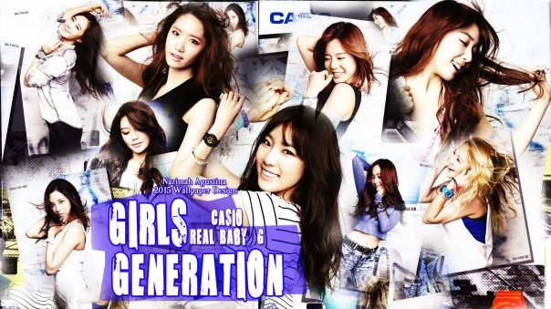 snsd real casio baby-g new 2014 birthday wallpaper by nazimah agustina